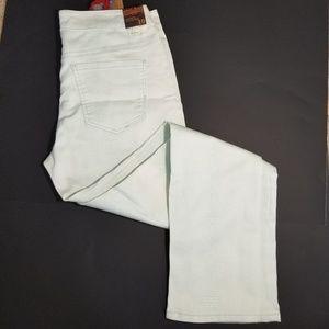 Liverpool sz 10 Sadie's straight green white pants